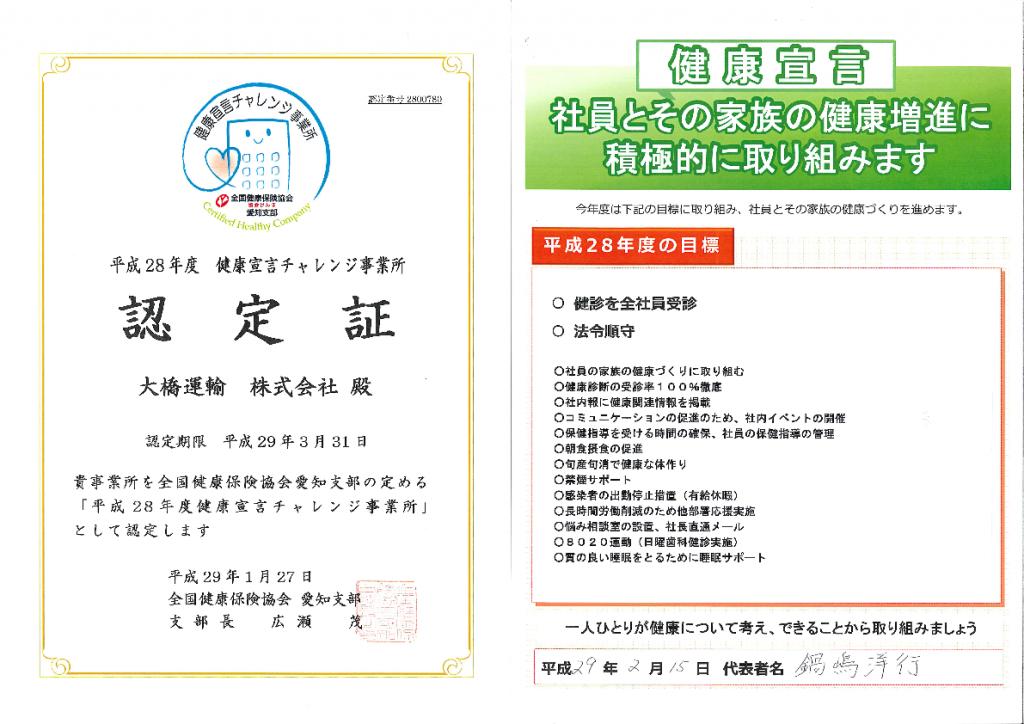 平成29年度 健康宣言
